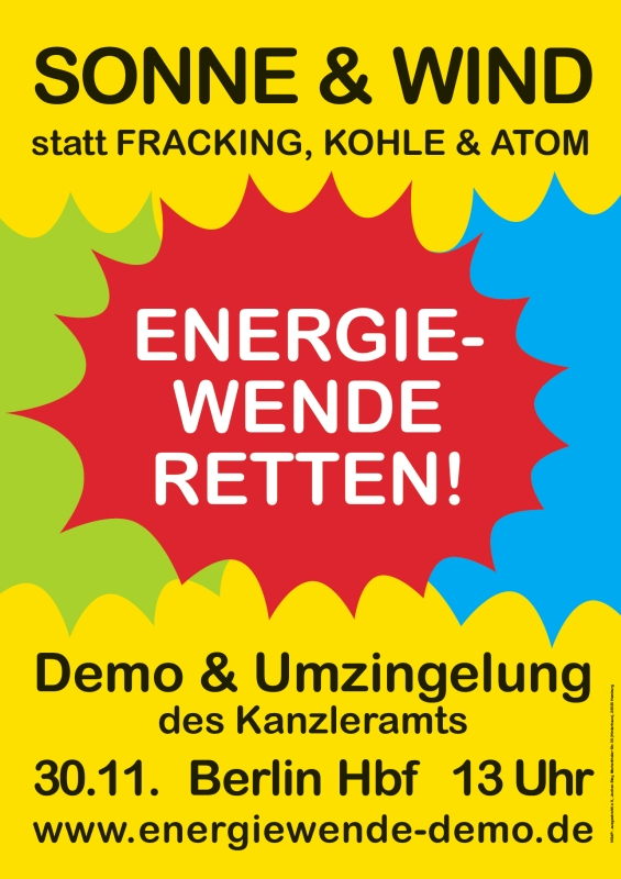 Energiewende retten – Demo in Berlin am 30.11.13